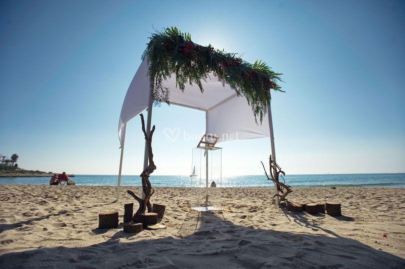 Ceremonia en la playa de Blau Verd events