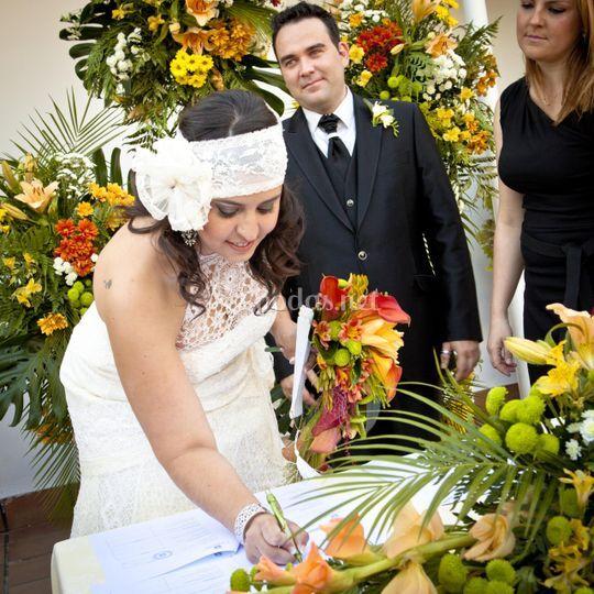Decoración de boda civil