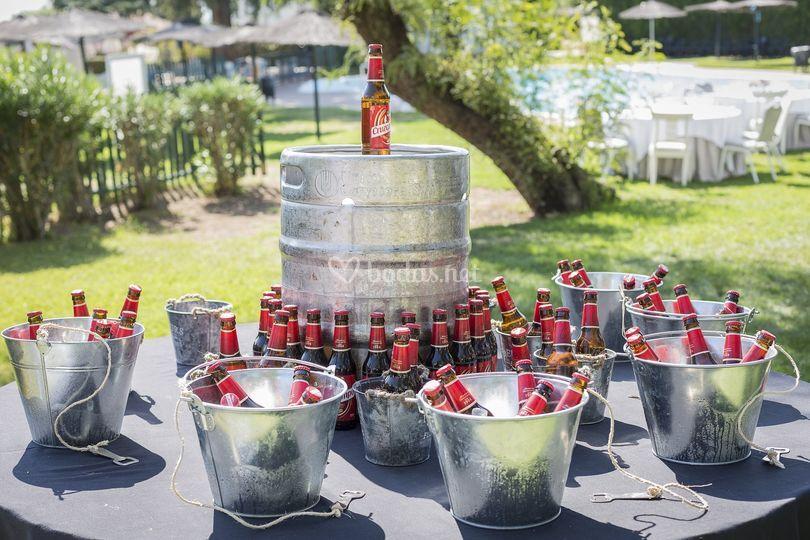 Buffet cervezas aperitivos