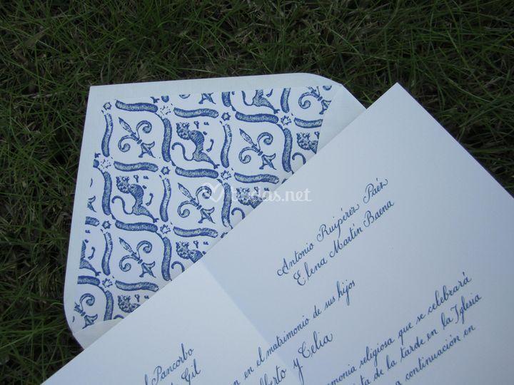 Invitación a caligrafía