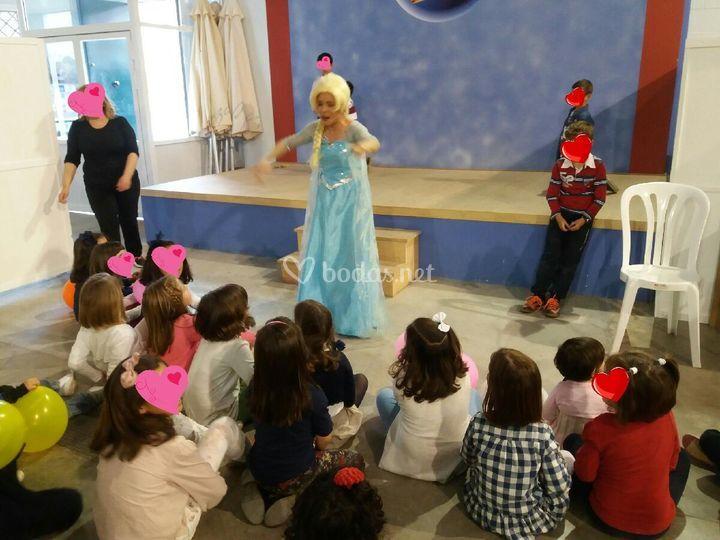 Actuación temática Frozen