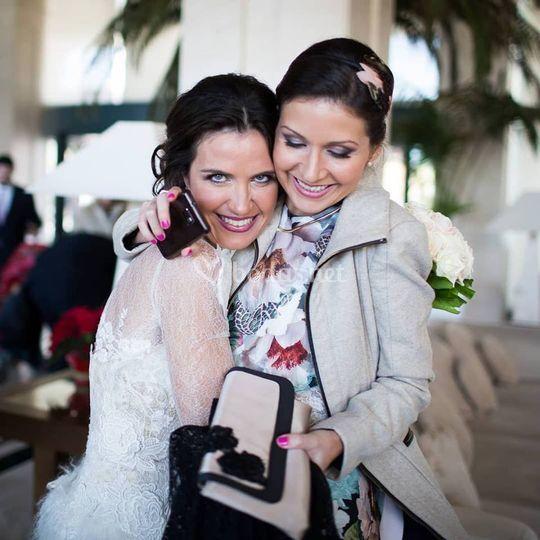 Maquillaje novia y invitada