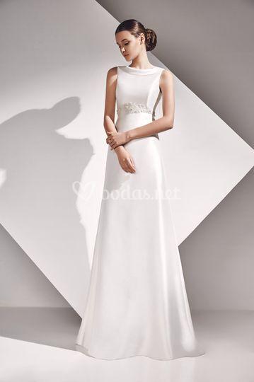 Asela - vestido de mikado
