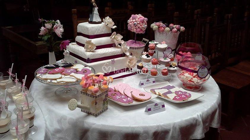 Mesa dulce para bodas de mis ideas dulce foto 1 for Dulce boda