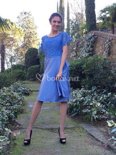 Vestido azulado