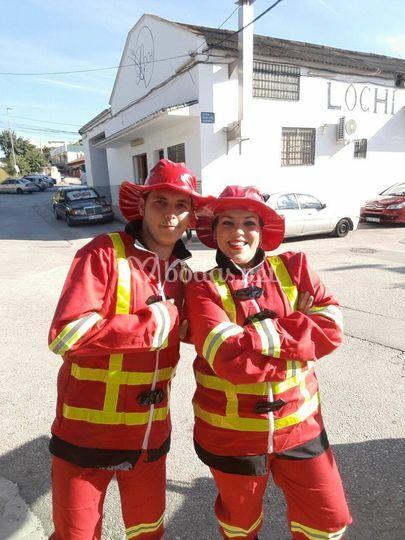 Animación bomberos
