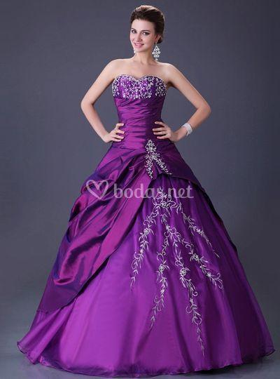 Vestido de novia fucsia