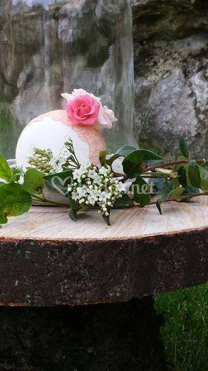 Mini tarta de boda