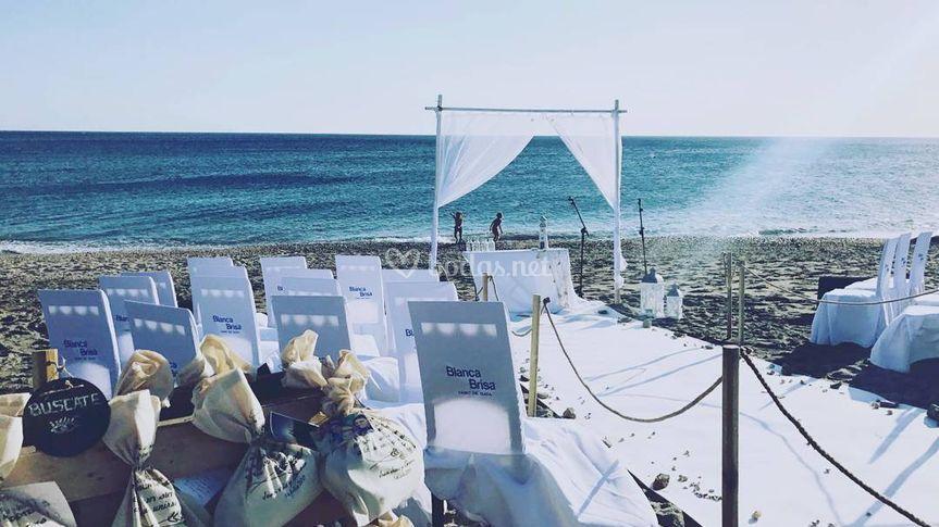 Sonorización bodas playa