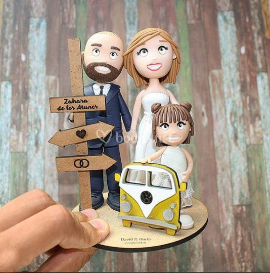 Muñecos boda arcilla