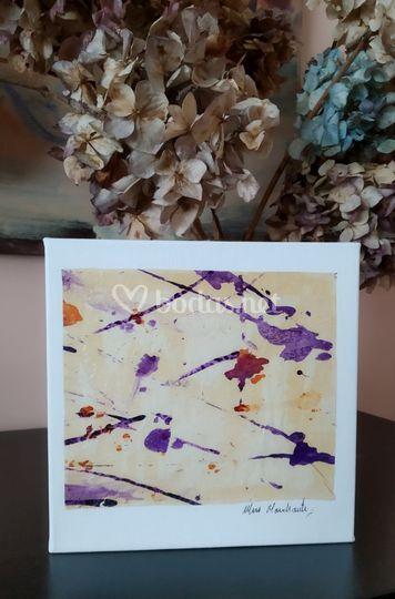 Lienzo, tinta serie abstracto