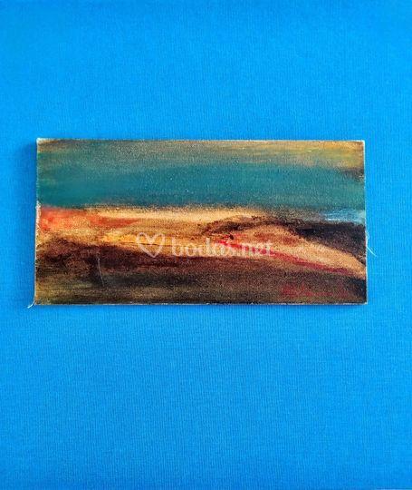 Tablilla óleo 20x10cm
