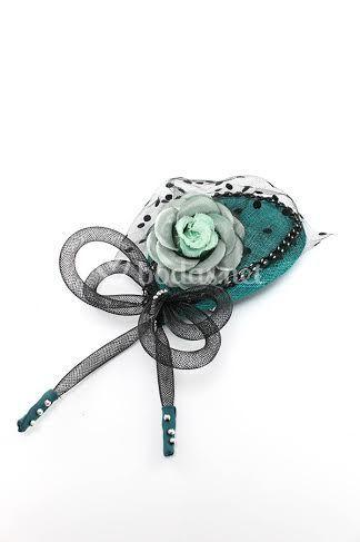 Tocado base lágrima con flor
