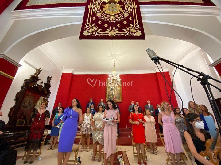 Coro en la iglesia