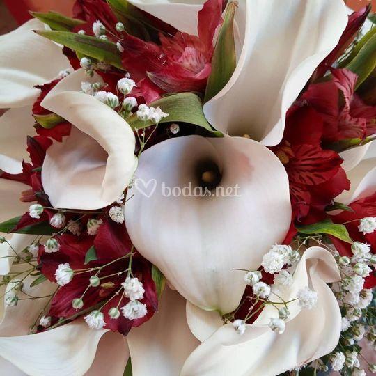 Detalle del ramo de novia