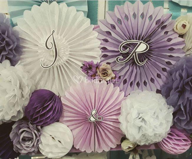 Photocall violeta