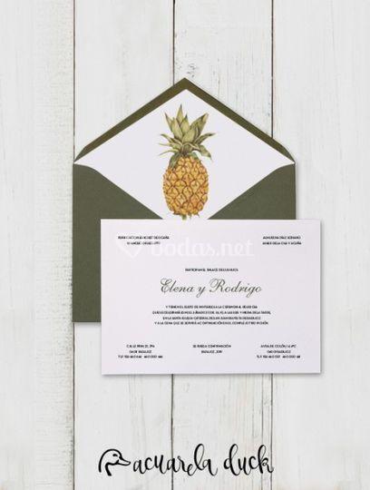 Invitación Pineapple