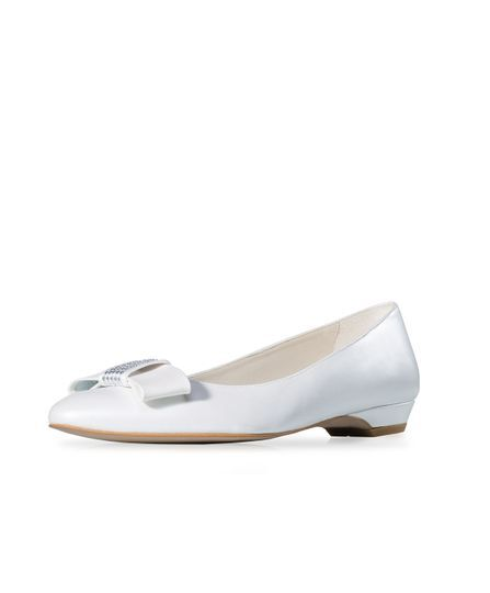 5117b19e59c26 Gala Novias Zapato de novia tipo bailarina