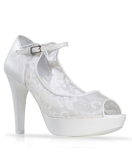 Zapato de novia encaje pulsera