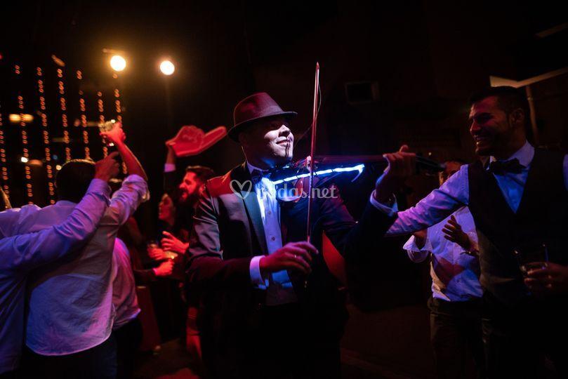 Show con violín eléctrico