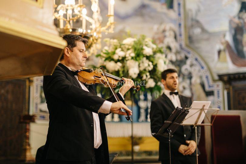 Trío de tenor, violín y piano