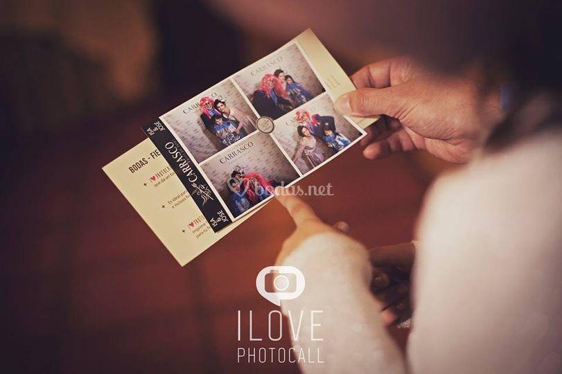 I love photocall - fotomatón