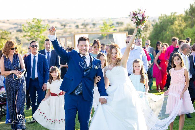 Por fin casados