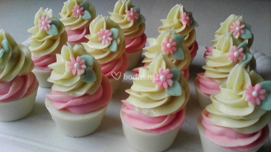 Minicupcakes con margaritas