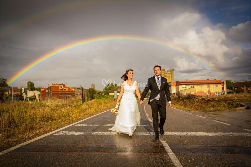 Bajo el arcoiris, Fuensaldaña de Radiga Fotógrafo