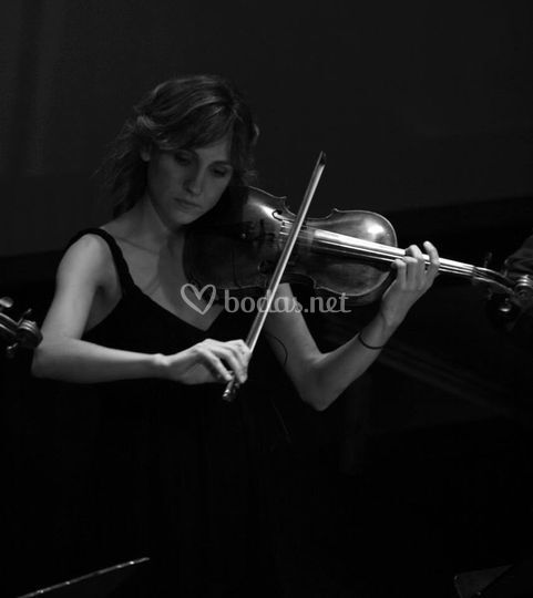 Violinista del grupo Asiduo