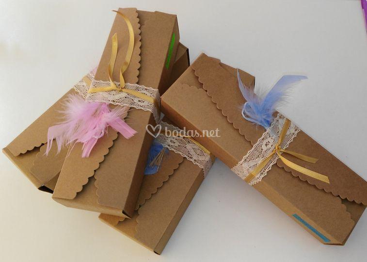 Cajitas decoradas para pañuelo