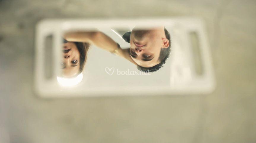 Novio a través de un espejo