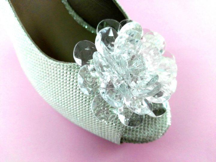 Flor cristal plata
