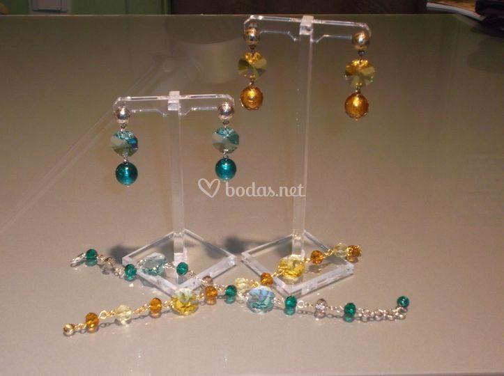 Pendientes con cristal de Swarosvsky
