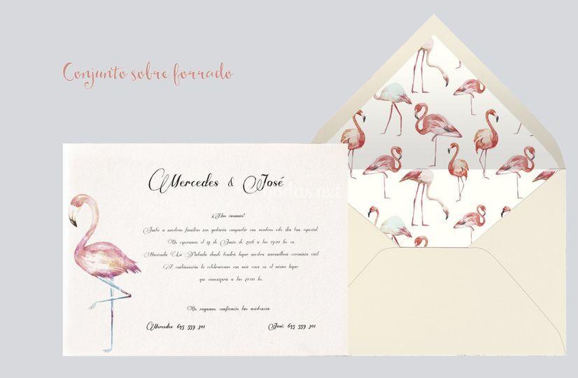 Conjunto acuarela flamenco