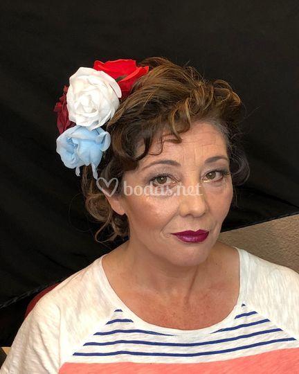 Maquillaje y peluquería flamen