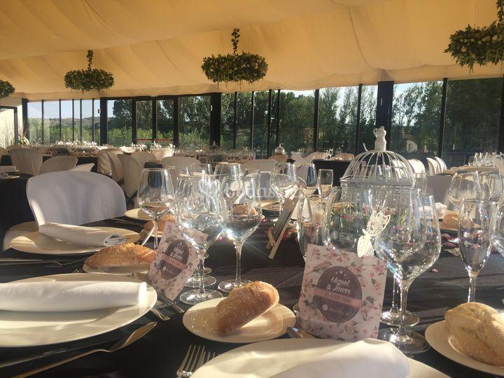 Montaje interior banquete