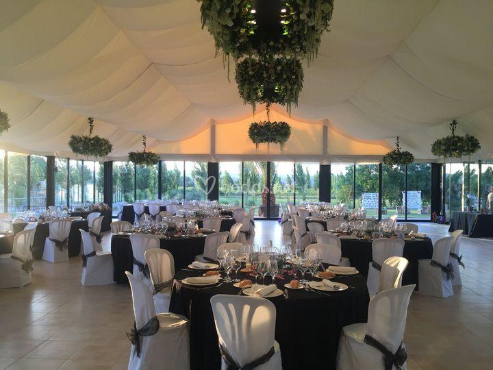 Vista general banquete