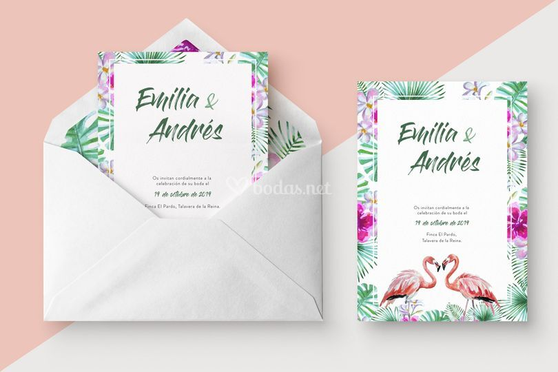 Invitación Flamingos