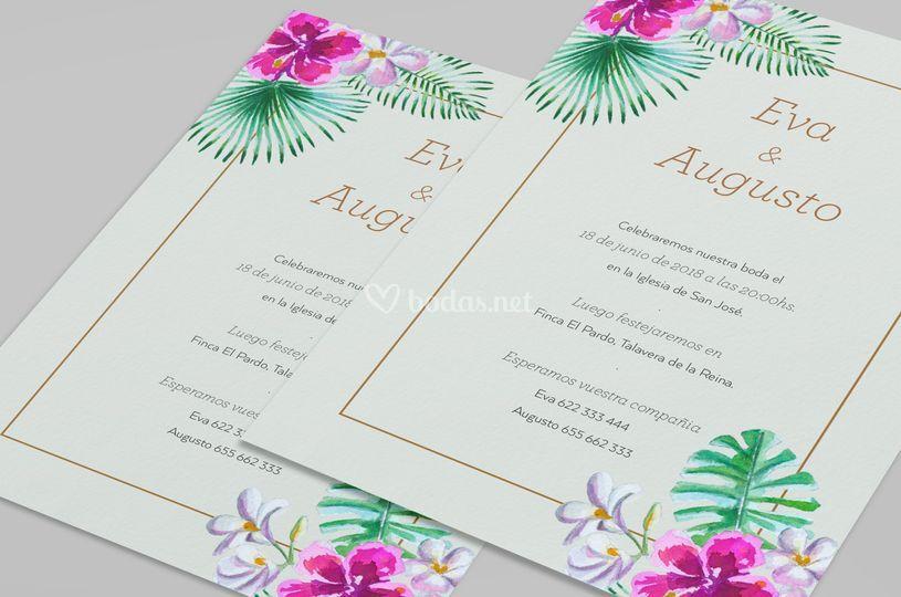 Invitación Tropical Garden