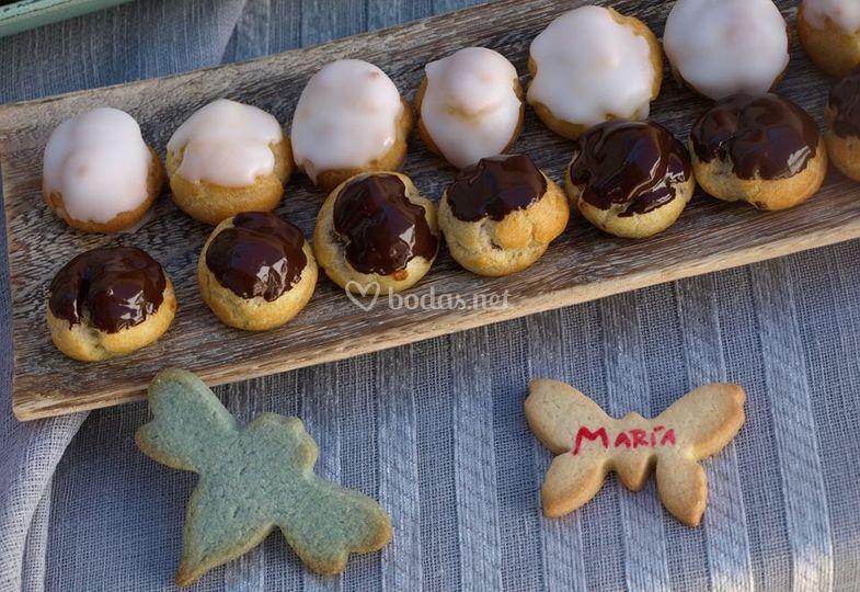 Pastas choux y cookies