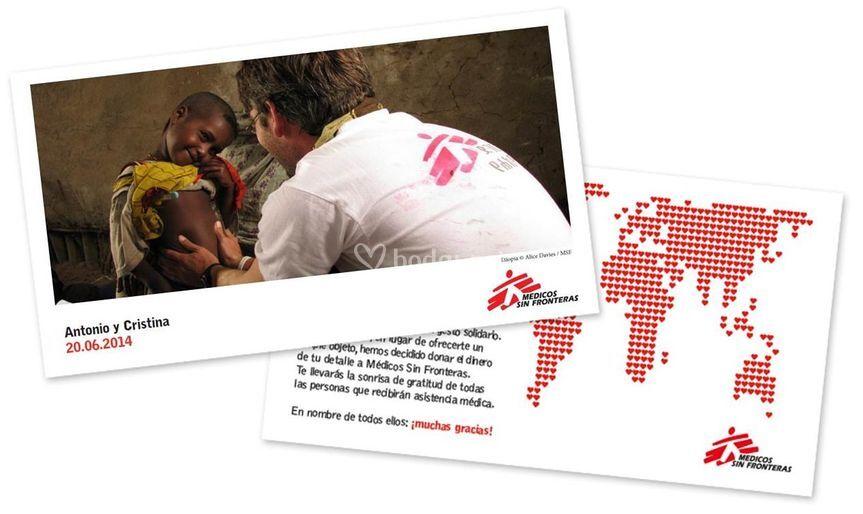 Tarjeta con foto de MSF