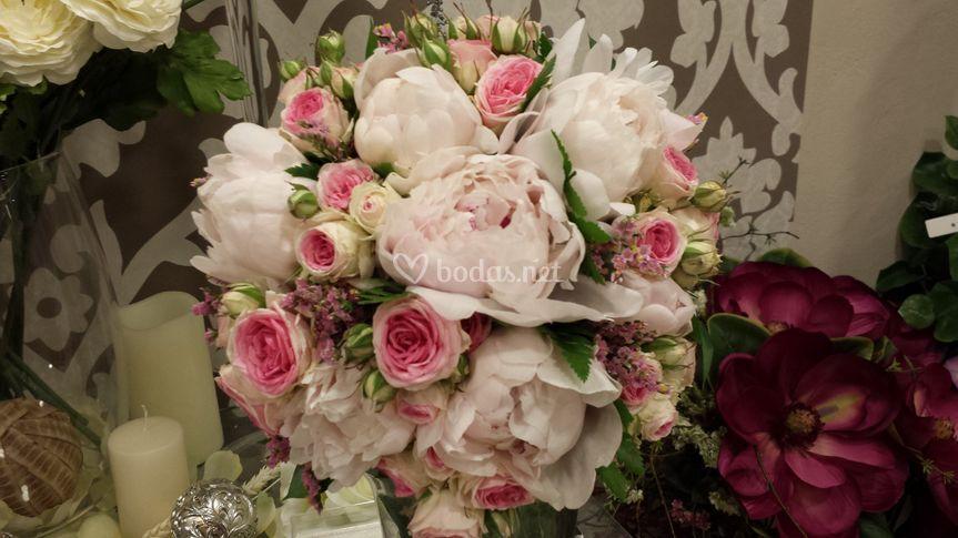 Bouquets de peonias