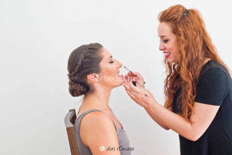 Maquillaje de novia labios