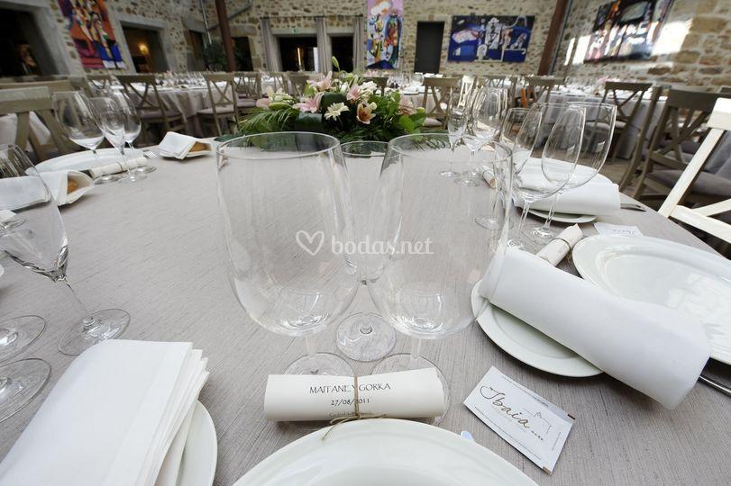 Banquete en el claustro