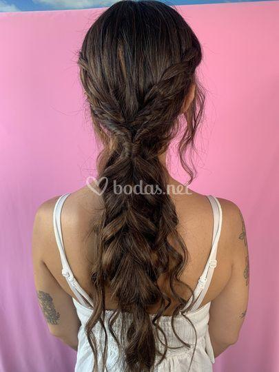 Peinado bohemio