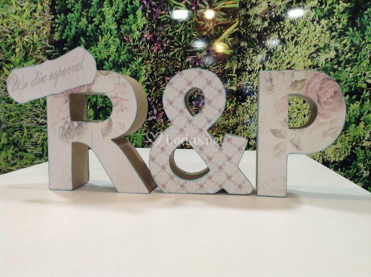 Letras cartón craft decoradas