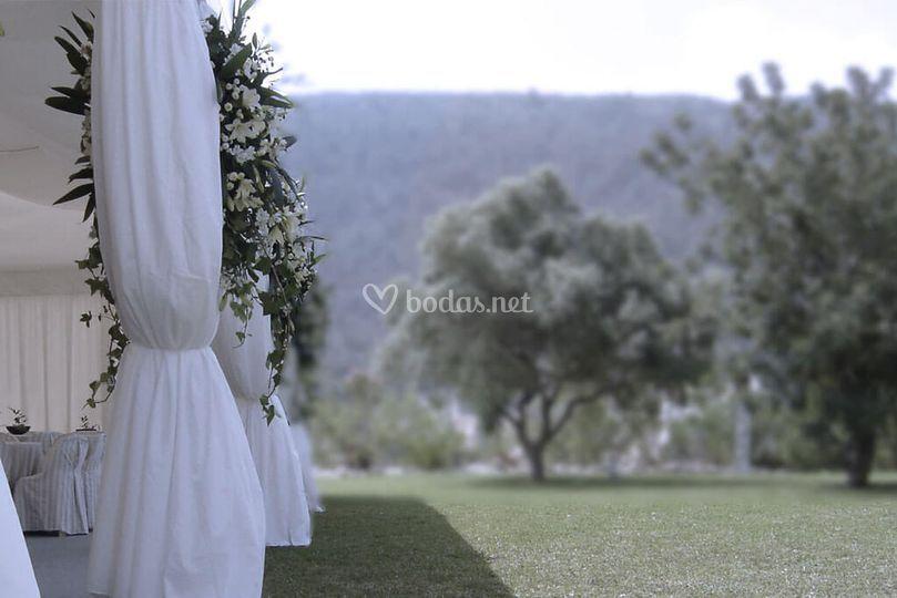 Carpa para una boda en Javea