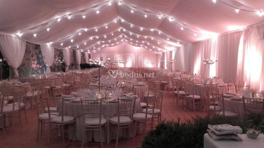 Carpa para boda Masía Aldamar