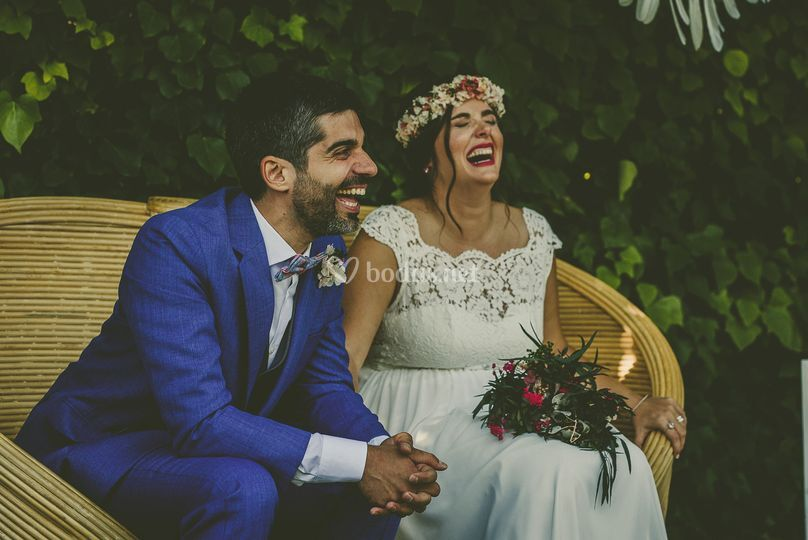 Disfrutando en la boda